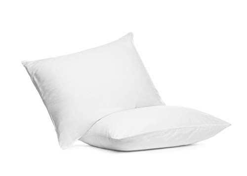 Digital Decor Set of Two 100% Cotton Hotel Down-Alternative Made in USA Pillows - Hypoallergenic & Dust Mite Resistant - Three Comfort Levels! (Standard, Gold/Medium)