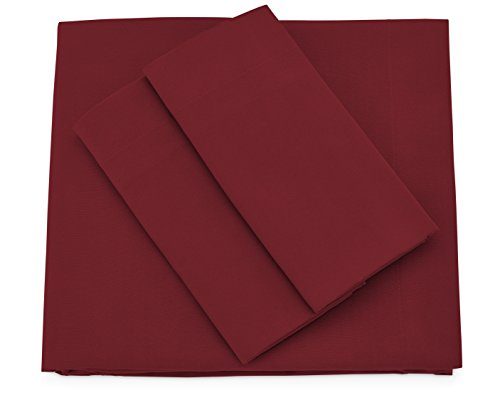 Cosy House Collection Premium Bamboo Sheets - Deep Pocket Bed Sheet Set - Ultra Soft & Cool Breathable Bedding - Hypoallergenic Blend from Natural Bamboo Fiber - 4 Piece - Cal King, Burgundy