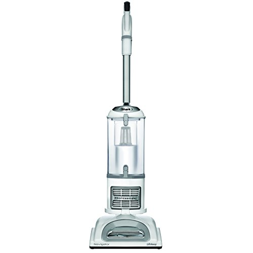 Shark NV356E S2 Navigator Lift-Away Professional Upright Vacuum with Pet Power Brush and Crevice Tool, White/Silver