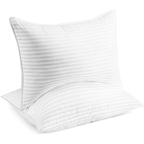 Beckham Hotel Collection Bed Pillows for Sleeping - Queen Size, Set of 2 - Cooling, Luxury Gel Pillow for Back, Stomach or Side Sleepers