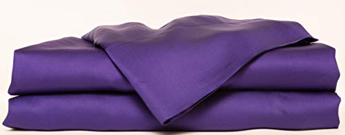 HotelSheetsDirect Bed Sheets Set - 1600 Thread Count, 4 Pieces (1 Flat, 1 Fitted Sheet, 2 Pillow Cases) - 100% Bamboo Sheet Sets, Queen - Purple