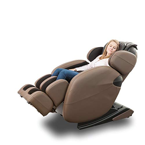 Zero Gravity Full-Body Kahuna Massage Chair Recliner LM6800 with Yoga & Heating Therapy (Brown)