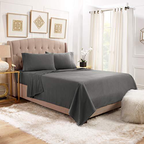 Empyrean Bedding Queen Sheets - 4 Piece Bed Sheets Queen Set - Premium Soft Sheets for Queen Size Bed - 14-16' Queen Size Sheets Set - Breathable Microfiber Queen Sheet Set - Charcoal Gray