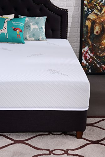 Oliver Smith - Natural Organic - Cooling Gel Ventilated Medium Firm Memory Sleep 10-Inch Memory Foam Luxury Mattress GreenFoam Certified - Full