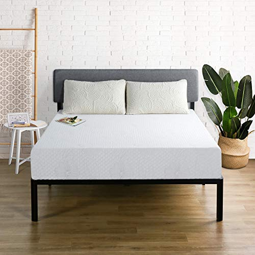Olee Sleep 9 Inch I-Gel Multi Layered Memory Foam Mattress, Queen, White