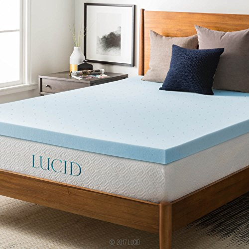 LUCID 3-inch Ventilated Gel Memory Foam Mattress Topper - Twin XL