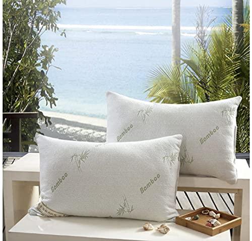 Brijo Queen Bamboo Pillow, White