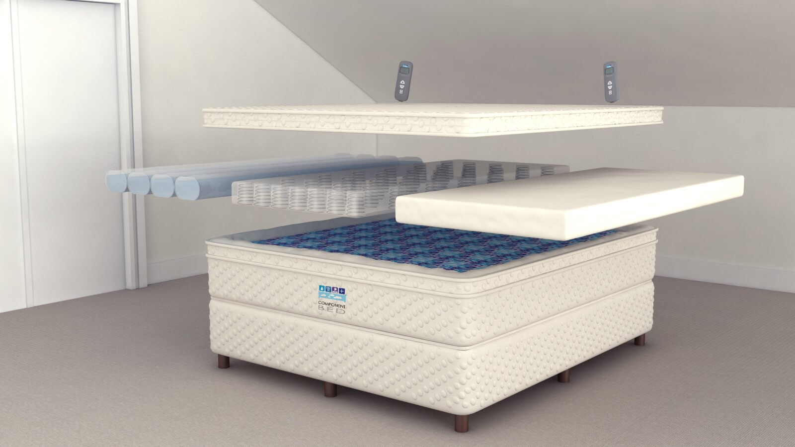 Cheap queen box springsbed frame for boxspring and for Cheap king size mattress near me